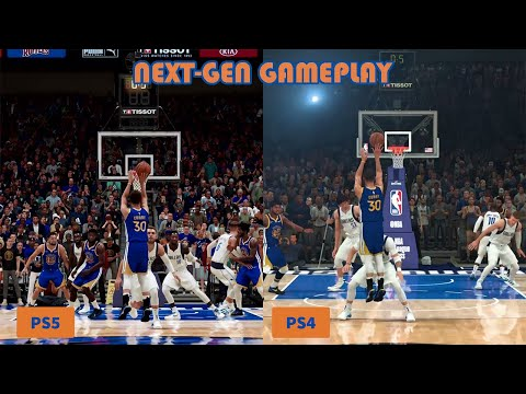 Next-Gen Graphics Comparison NBA 2K21 PS5 vs PS4 Gameplay