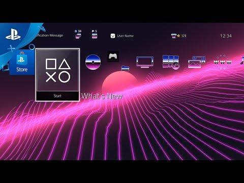 Synthwave A/B Complete Dynamic Theme Bundle - Preview Trailer | PS4
