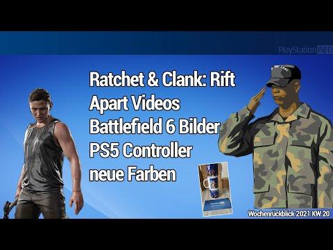Ratchet & Clank Rift Apart Videos - Battlefield 6 Bilder - PS5 Controller neue Farben