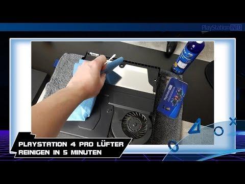 PlayStation 4 Pro Lüfter reinigen in 5 Minuten - So wird es gemacht!