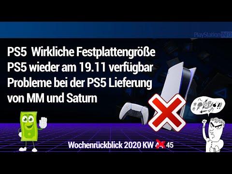 PS5 – Festplattengröße - PS5 wieder am 19.11 verfügbar - Probleme bei der PS5 Lieferung MM