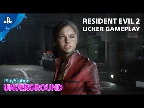 Resident Evil 2 - Licker Gameplay   PlayStation Underground
