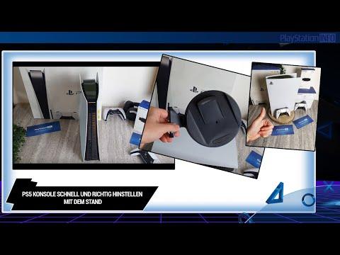 PS5 Konsole schnell und richtig hinstellen mit dem Stand