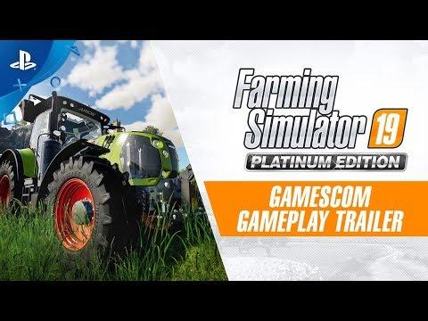 Farming Simulator 19 Platinum Edition – Gamescom Gameplay Trailer   PS4