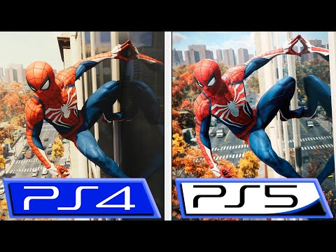 Marvel's Spider-Man Remastered   PS4 Pro VS PS5   4K Graphics Comparison   Early Gameplay