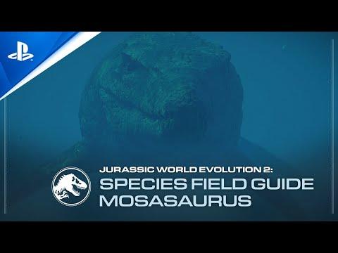Jurassic World Evolution 2 - Mosasaurus Species Field Guide   PS5, PS4