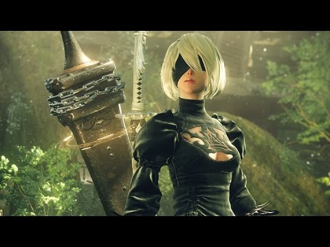 NieR: Automata - New Gameplay - Fishing and Ruined Highway (PS4/PC)