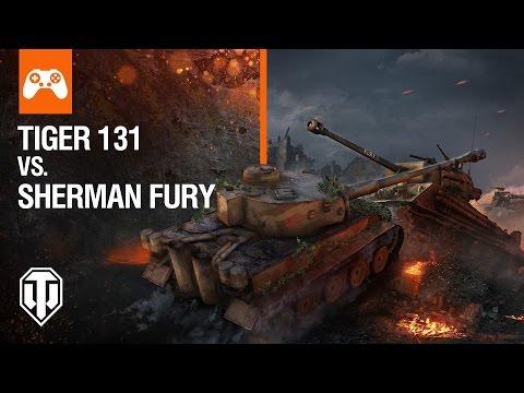 World of Tanks Console - War of Nations: Tiger 131 vs Sherman Fury DE