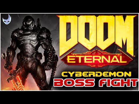 Doom Eternal - BOSS FIGHT Cyberdemon destroyed by professional sweatlord.