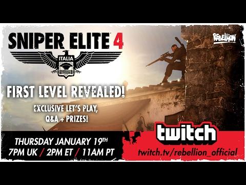 Sniper Elite 4 Let's Play! First Level: San Celini
