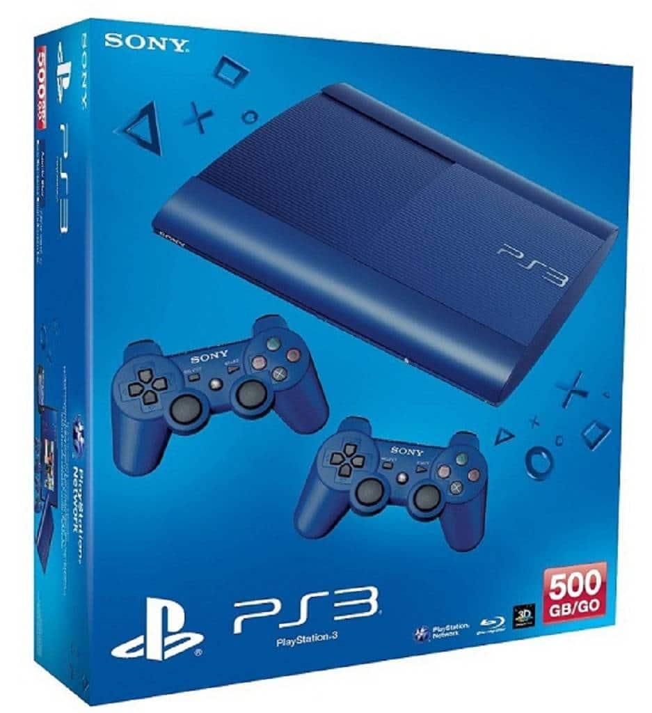Playstation 3 Super Slim Blau