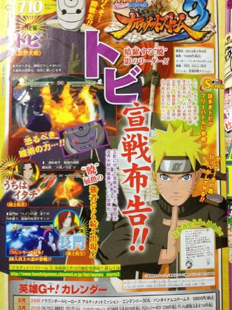 Naruto Storm 3 Edo Itachi Tobi Nagato