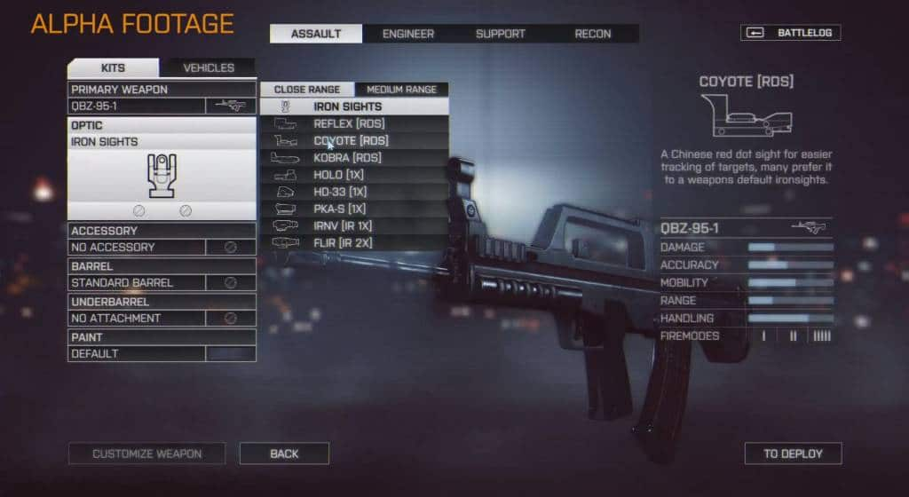 Battlefield 4 waffen anpassung