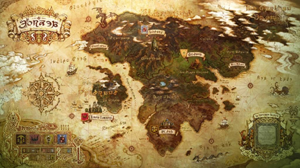 Eorzea map