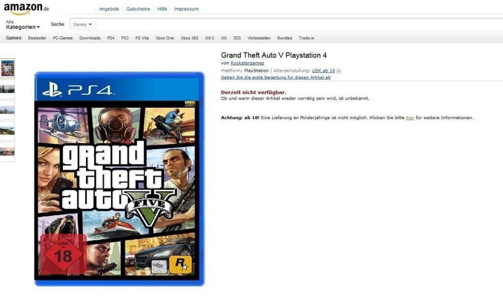 GTA V PS4 Version