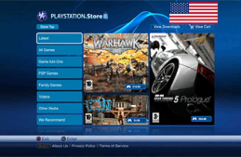 Store Update usa ps4info