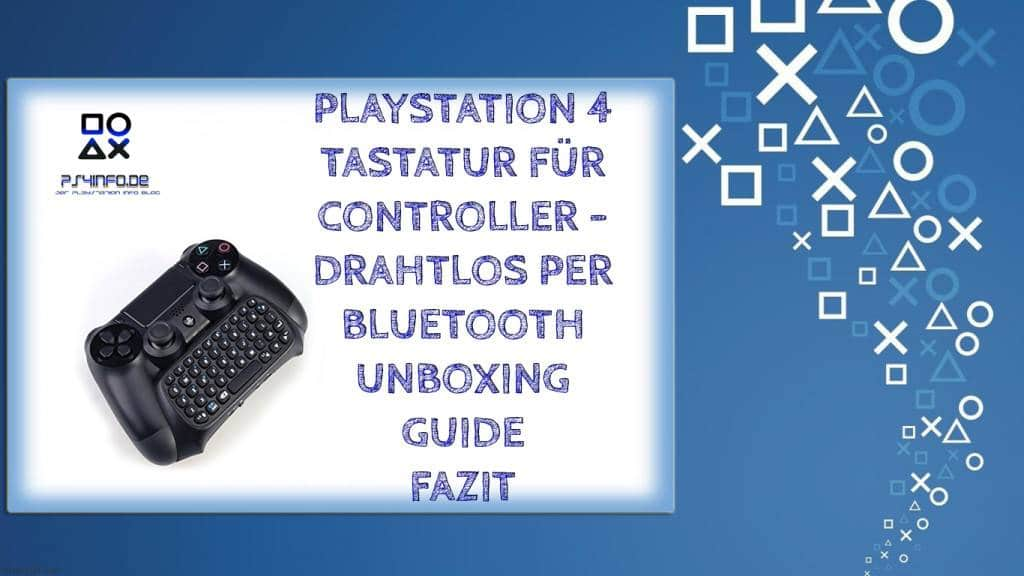 Playstation 4 Tastatur für Controller - drahtlos per Bluetooth