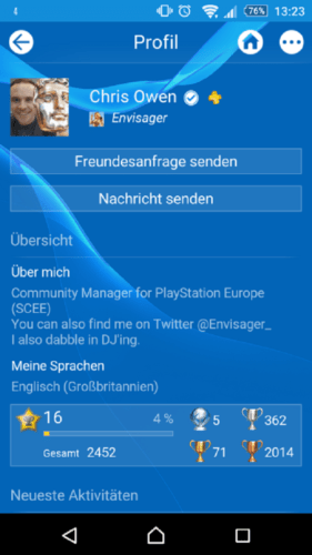 PSN Profil