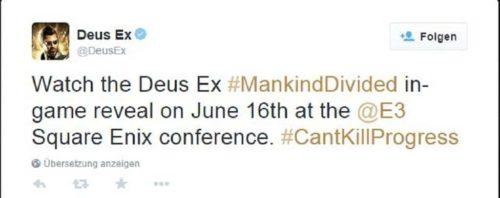 Deus Ex Mankind Divided Twitter
