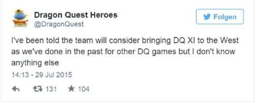 Dragon Quest XI Twitter