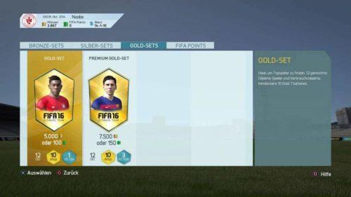 FIFA 16 FUT-Zentrale (Im Menü)