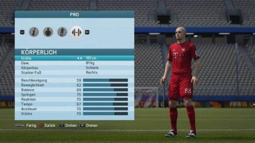 FIFA 16 Karriere (Im Menü)