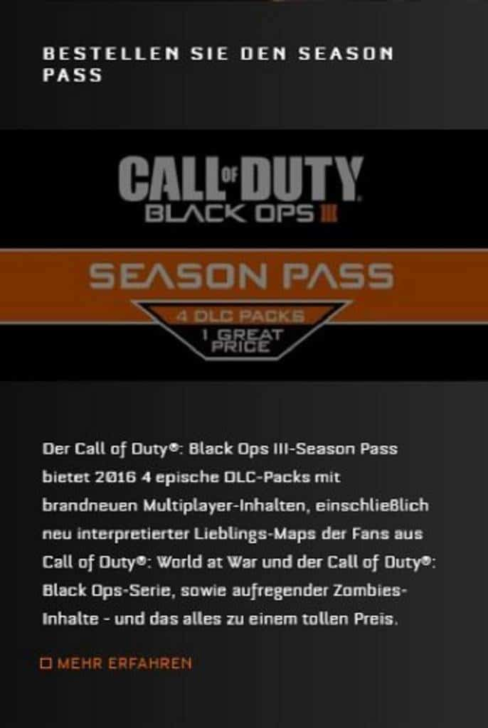 Black Ops 3 Season Pass