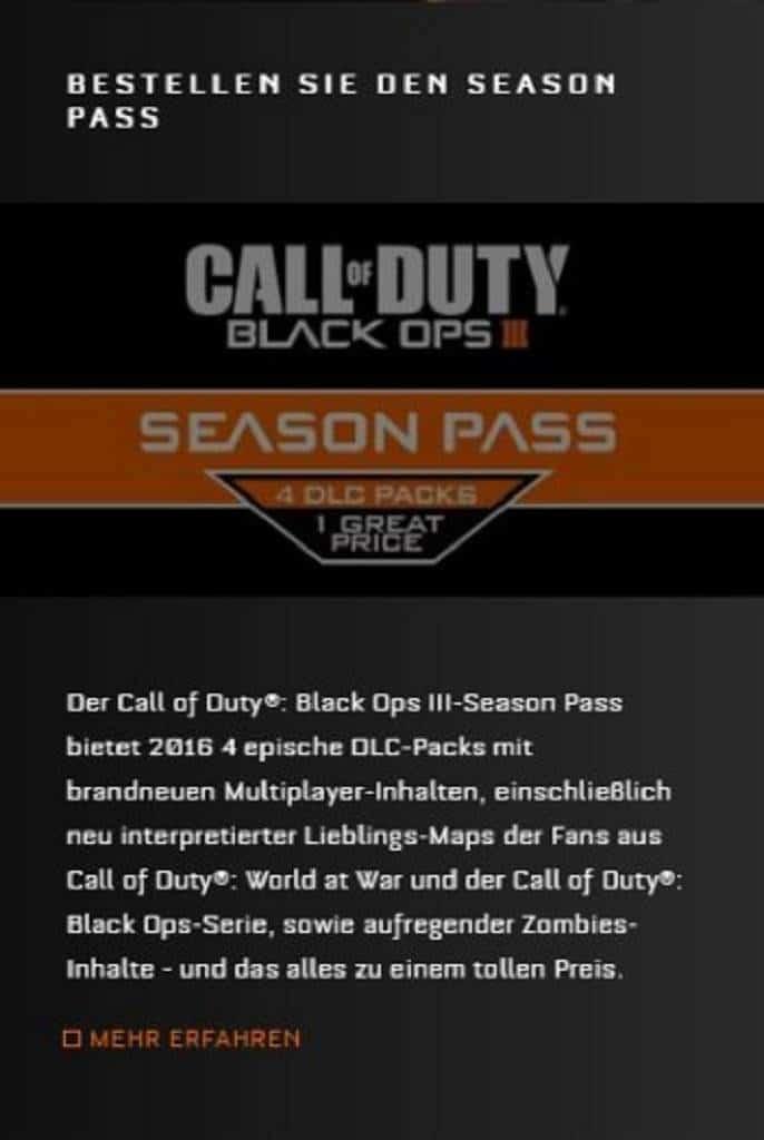 Black Ops 3 Season Pass