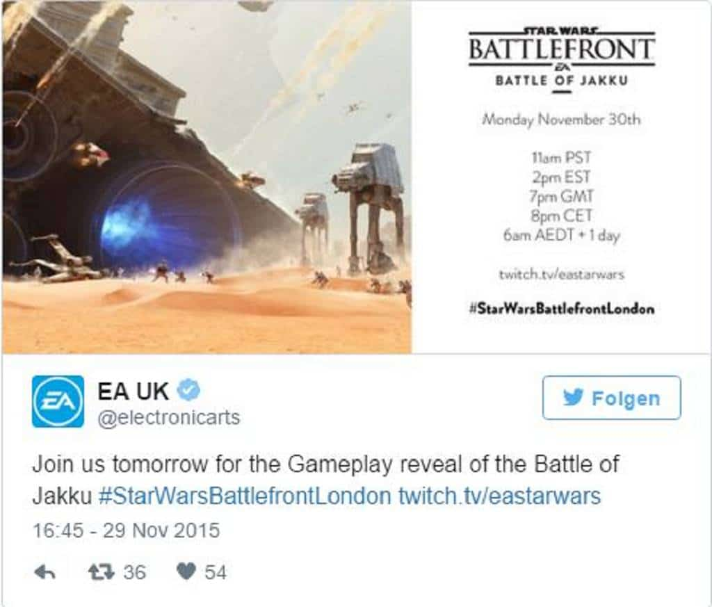Star Wars Battlefront EA Live Stream