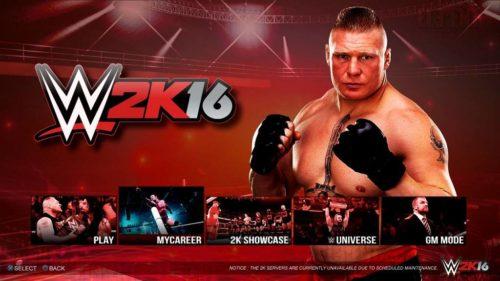WWE 2K 16 Start 2016