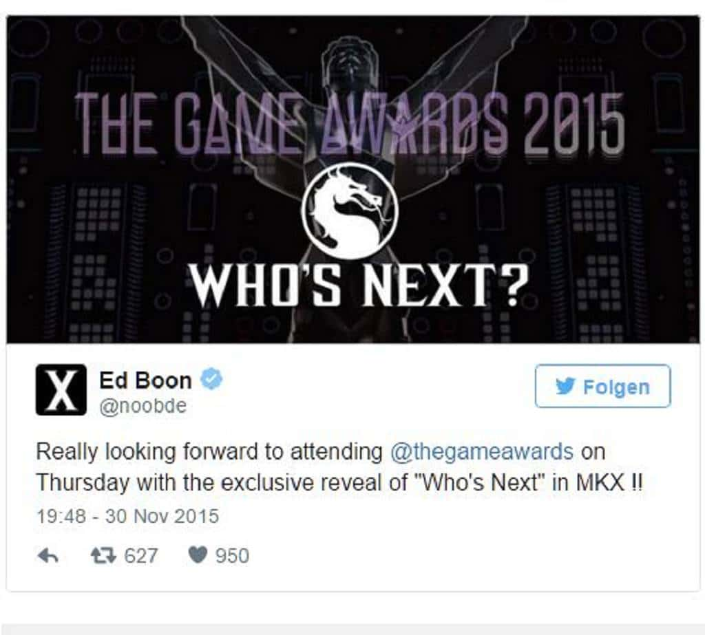 Mortal Kombat X Tweet 2015