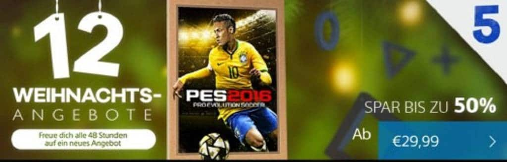 PES 2016 Weihnachts-Aktion