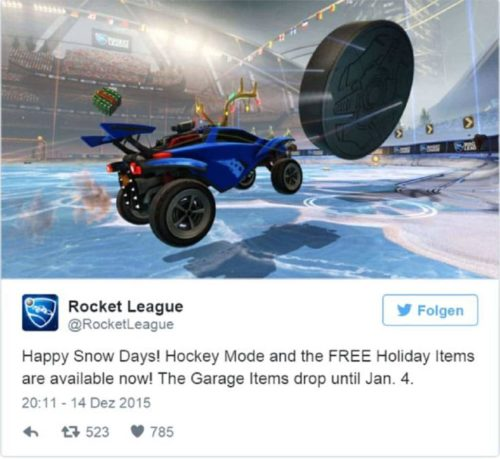Rocket League Weihnachts Update