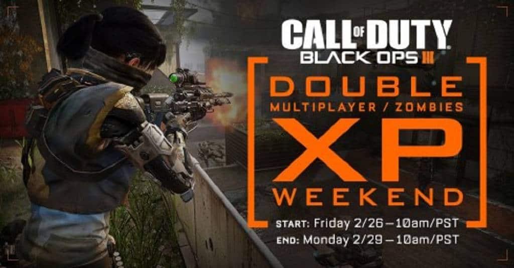 Black Ops 3 Doppelte Wochenende
