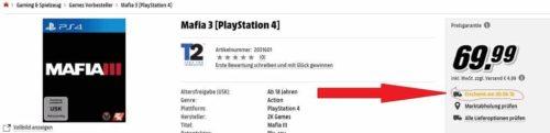 Mafia 3 Media Markt Release