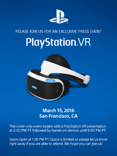 PlayStation VR Presse