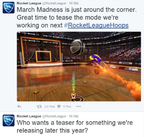 Rocket League-Twitter