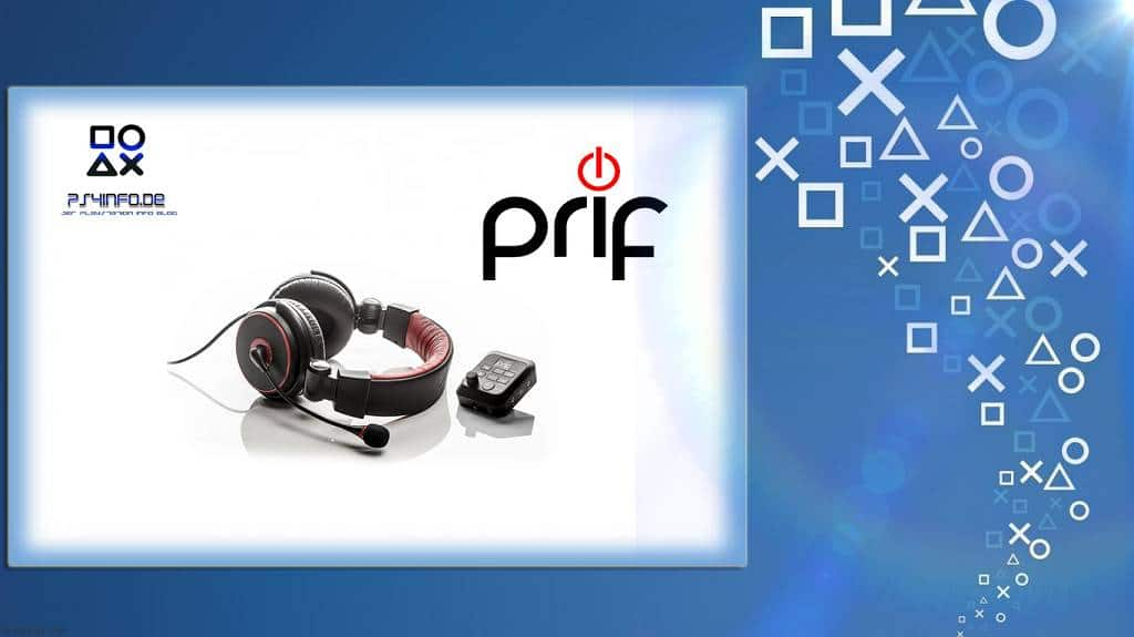 Headset PRIF Playsonic 4 Amplified Stereo with Sound Mixing