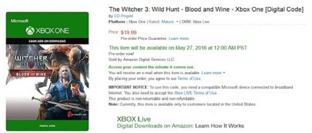 the_witcher_3_blood_and_wine_amazon_leak