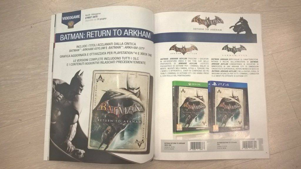 Batman Return to Arkham - HD Collection PS4 2016