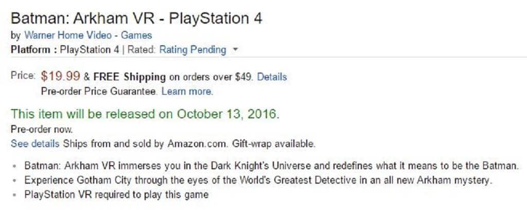 Batman Arkham VR - PlayStation 4 (2) 2016