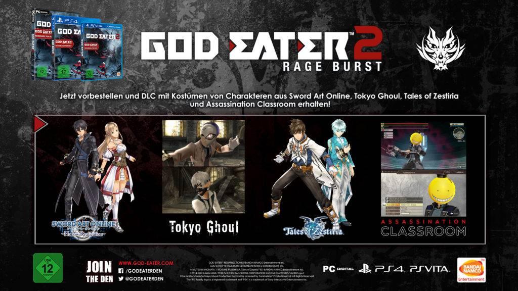 GOD EATER 2 RAGE BURST_preorder_GER