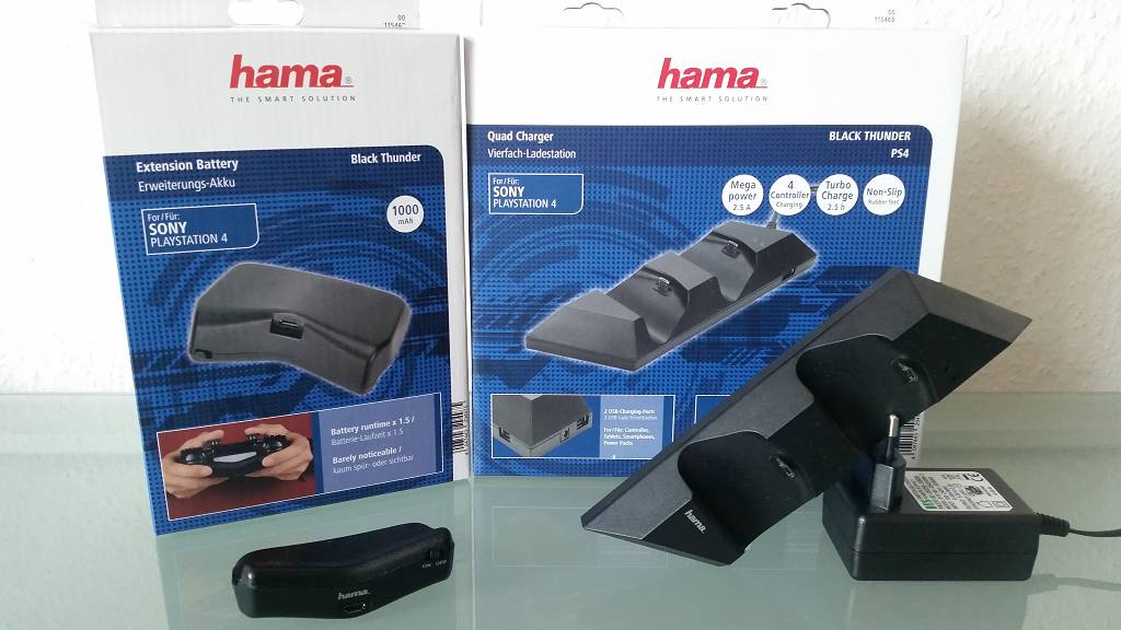 PlayStation 4 – Nie wieder leere Controller dank Ladestation und externen Akku von Hama (Review)