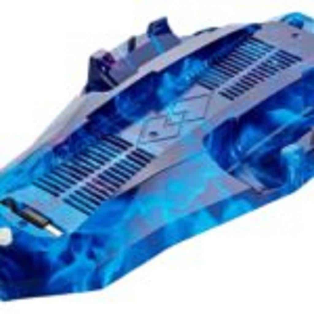 GAMINGER Ladestation Lüfter Multihub, für PlayStation 4 PS4 Dualshock Controller, roter Rauch