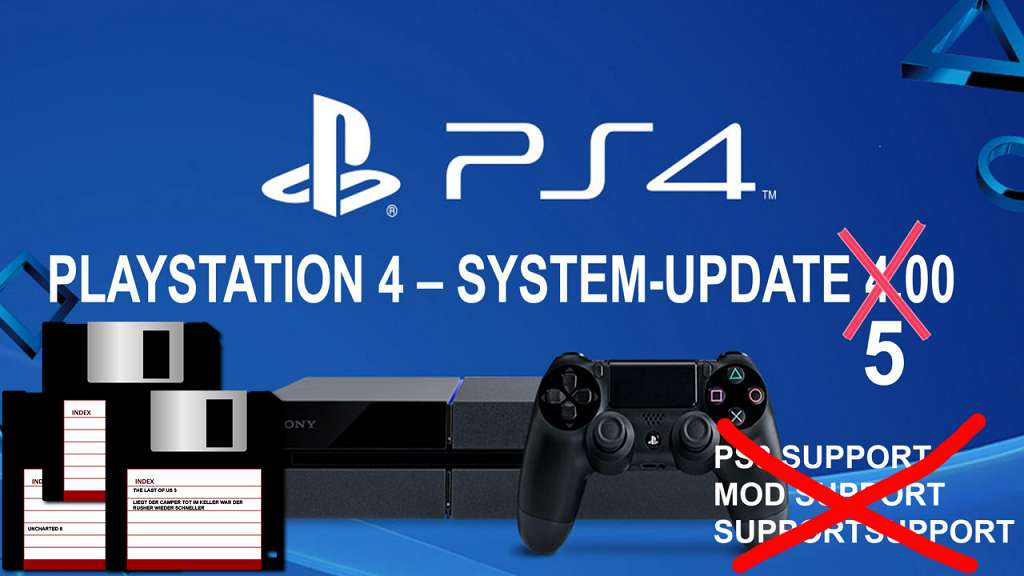 playstation 4 system update bekommt disketten. Black Bedroom Furniture Sets. Home Design Ideas
