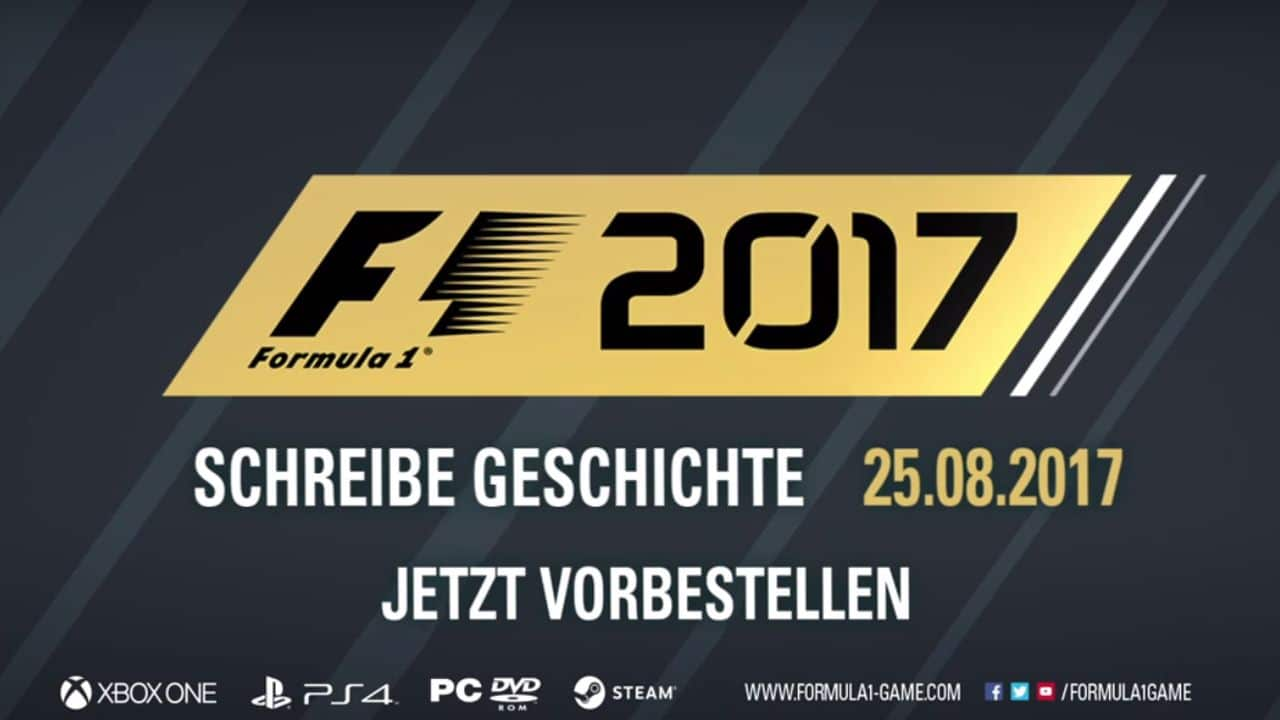 f1 2017 release datum zum rennspiel bekannt gegeben playstation info. Black Bedroom Furniture Sets. Home Design Ideas