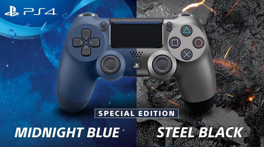 DualShock 4: Sondermodelle in Midnight Blue und Steel Black enthüllt