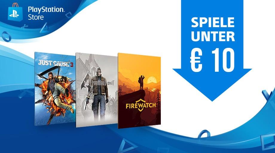 PlayStation Store - Zahlreiche Spiele derzeit für unter 10 Euro