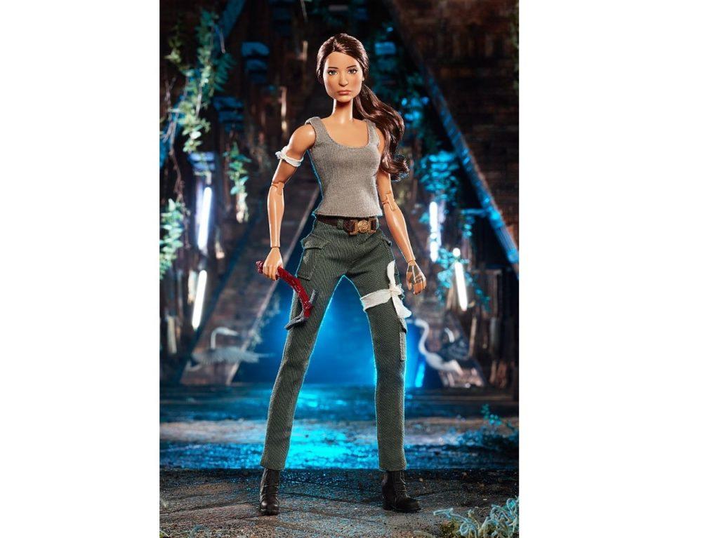 Spielzeughersteller Mattel stellt Lara Croft Barbie vor!