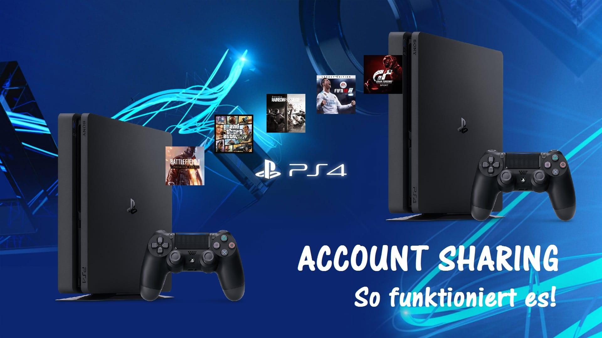 PS4 Account Sharing - So nutzt man ein Spiel auf zwei